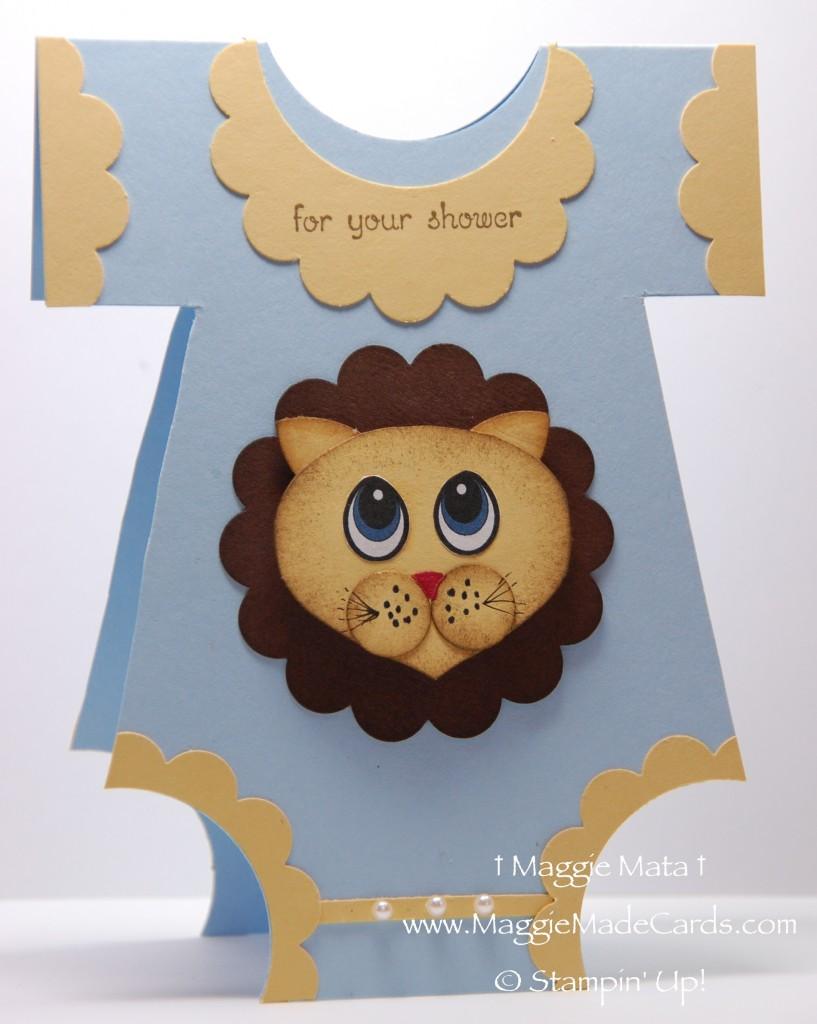 mr lion baby shower card new kit promotion