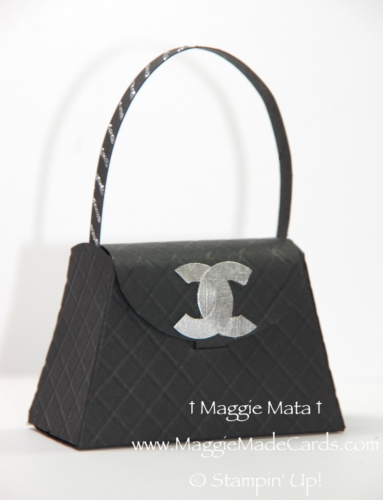 coco chanel inspired birthday card amp purse